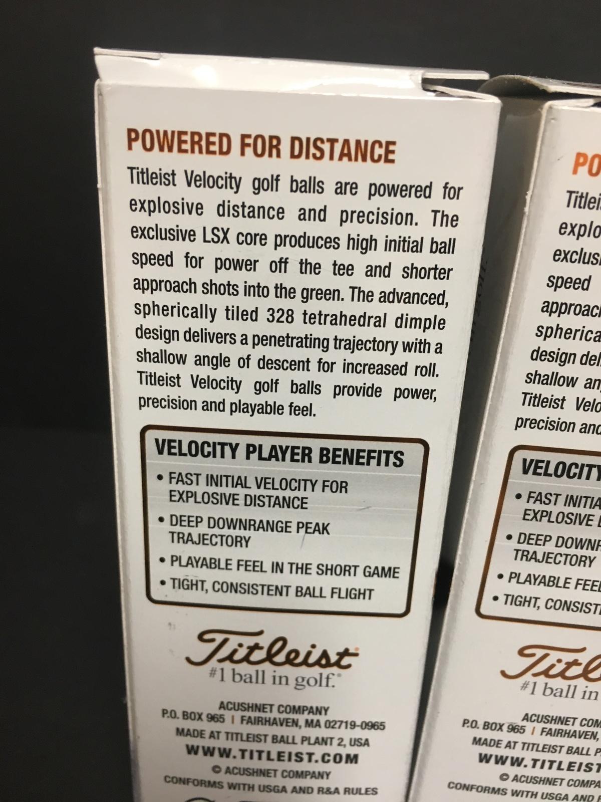 Titleist Velocity Golf Balls White NEW IN BOX 12 Total image 3