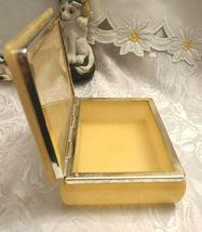 Vintage Himark Giftware Hinged Floral Design Genuine Alabaster Trinket Box Italy image 3