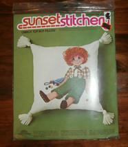 "Carrot Top Boy Pillow Sunset Stitchery Crewel Kit 14"" x 14"" Unopened - $14.50"