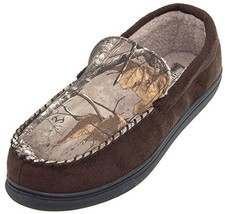 Northern Trail Brown Camo Moccasin Slippers for Men L/10-11 - $29.66