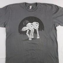 Star Wars AT-AT @@ T-shirt Gray Size Large Grap... - $4.80