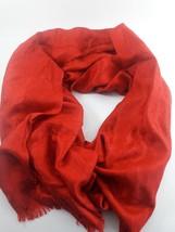 MICHAEL Michael Kors Women's Jet Set Logo Jacquard Wrap Red - $24.74