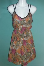 LUSH  Artsy Print Double Strap Racer Back Dress (XS) - $12.87