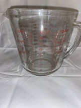 Vintage Anchor Hocking Fire King Glass Measuring Cup - Quart / 4 Cups / 1000 Ml - $11.86