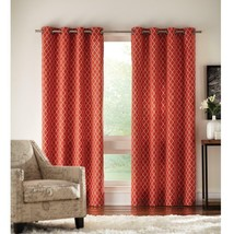 """NEW 2 Pack Ogee Light Filtering Window Panels in Chili 50"""" x 84"""" - $28.50"""