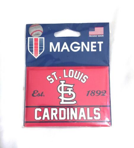 "New Large MLB St. Louis Cardinals Red White Magnet 3.75"" x 2.5"" Fridge WinCraft"