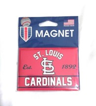 "New Large MLB St. Louis Cardinals Red White Magnet 3.75"" x 2.5"" Fridge WinCraft image 1"