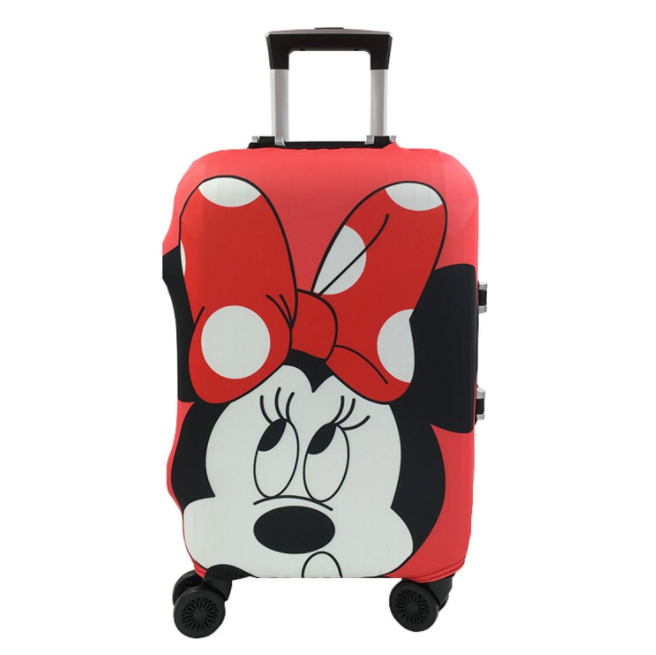 Minnie And Mickey Pattern Travel Suitcase Protective Cover, Elastic Dust Case