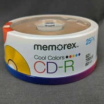 25-Pack Memorex Cool Colors CD-R 52X 700MB 80 min NEW - $11.60