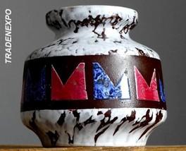 Vintage 60-70s VEB HALDENSLEBEN 3048 Vase East German Pottery GDR Fat La... - $24.74