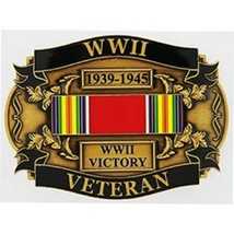 United States WWII World War II Victory Veteran Iron Buckle Antique Finish - $18.80