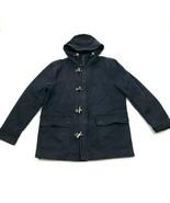 VINTAGE H&M Chore Coat Toggle Barn Jacket Size 42 Regular Canvas Denim D... - $41.70