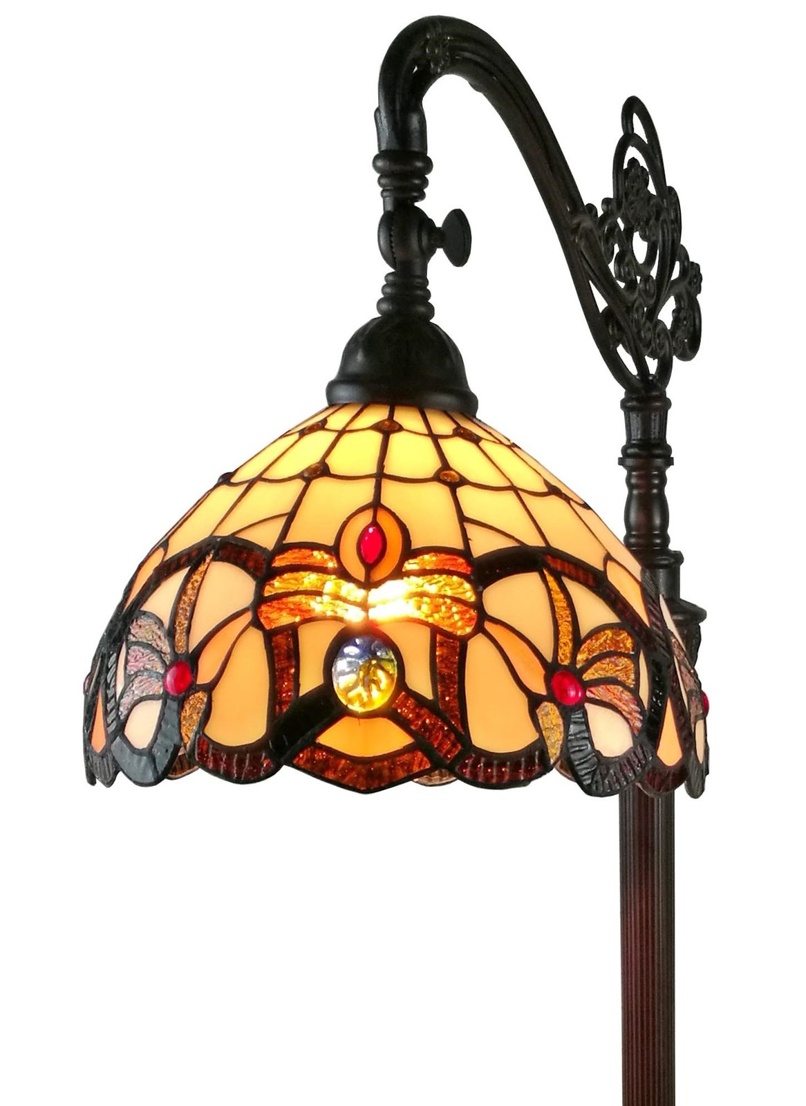Amora Lighting Am272fl11 Tiffany Style Victorian Reading
