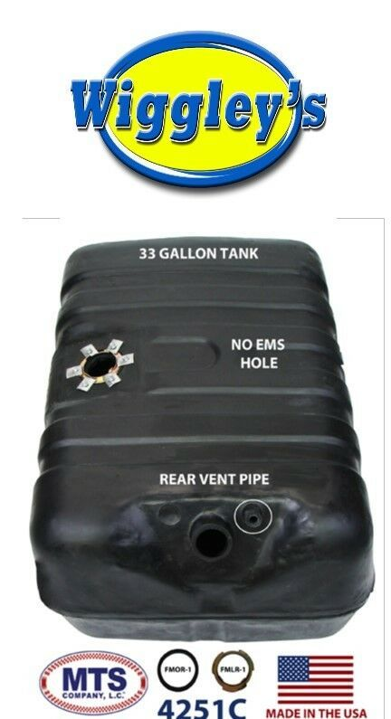 PLASTIC FUEL TANK MTS 4251C FITS 78 FORD BRONCO 33GAL REAR VENT PIPE - NO EMS