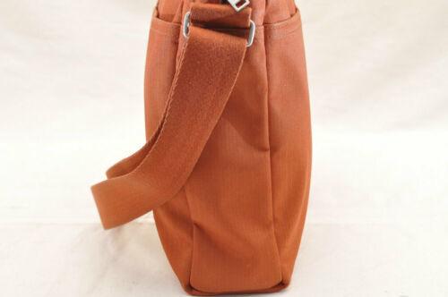 HERMES Acapulco Besace Coton Leather Orange Shoulder Bag Auth 5186 image 4