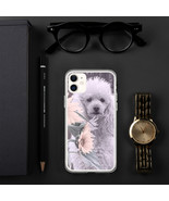 Poodle dog and sunflowers iPhone Case - $21.95