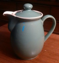 Denby Manor Green Coffee Pot 7 Inches Chipped - $9.38