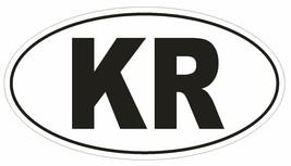 KR South Korea Country Code Oval Bumper Sticker or Helmet Sticker D1039 - $1.39+
