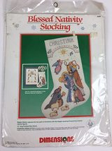 Dimensions Counted Cross Stitch Blessed Nativity Stocking Pattern Kit 8388 New - $19.99