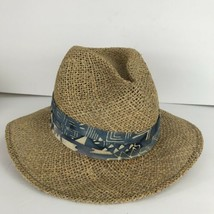 Dorfman Pacific DPC Hand Made Beige Natural Fiber Straw Panama Golf Hat ... - $39.59