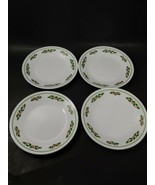 Corelle Christmas Holly Days set 4 dessert bread and butter plates Black... - $9.89