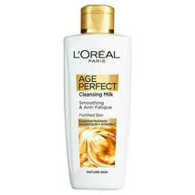 L'Oreal Cleansing Milk 200ml Age Perfect Smoothing Anti-Fatigue Fortifie... - $11.32