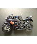 Dark Blue Yamaha YZF R1 Motorcycle Christmas Ornament - $23.74
