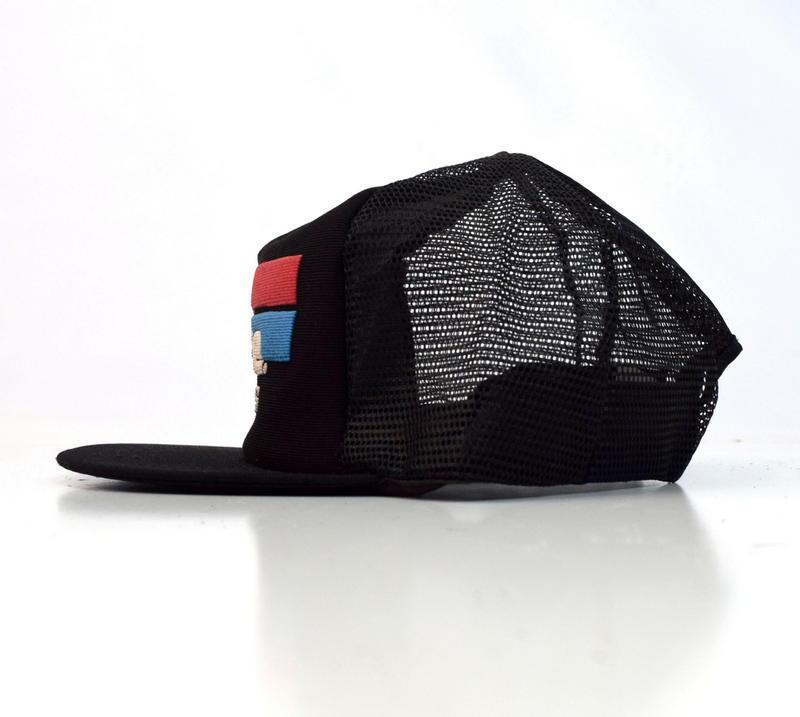 Vtg Astro Lite Batteries Black Mesh Snap Back Trucker Hat Baseball Fishing Cap