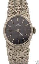 Vintage Ladies Omega 18K White Gold Hand-Winding 20mm 1970s Watch - $2,111.50