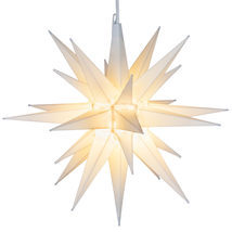"White LED Christmas Moravian Star Indoor Outdoor Decoration Display 14"" NEW - £39.16 GBP"