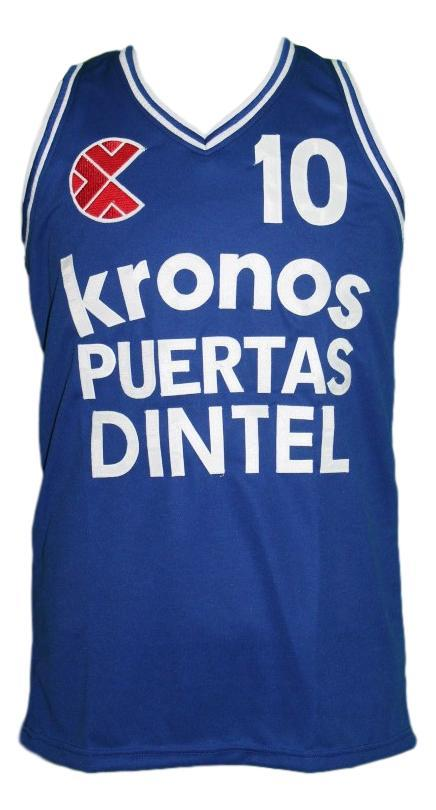 Drazen Petrovic Kronos Puertas Dintel Euro Basketball Jersey New Blue Any Size