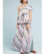 Anthropologie Rainbow Ruffled Maxi Dress by Guapa $258 - NWT - $89.99