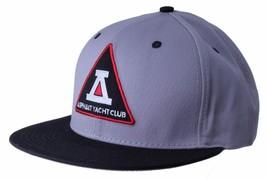 Asphalt Yacht Club Bermuda Triangle Black Grey 5 Panel Snapback Baseball Hat NWT image 2