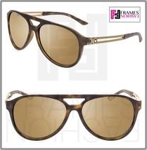 VERSACE 4312 Vintage Vanitas VE4312 Havana Gold Mirrored Aviator Sunglasses - $178.20