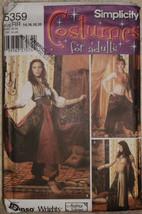 Harem Aladdin Costumes Adults Women Simplicity 5359 Sizes RR 14 16 18 20  - $12.00