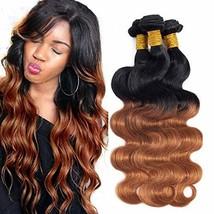Ombre Brazilian Hair Body Wave Bundles 3pcs,Ombre Brazilian Virgin Hair ... - $69.26