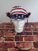 13e7bb3d0eb NWT URBAN PIPELINE Red White Blue USA Flag Floppy Bucket Hat Wide Brim L XL
