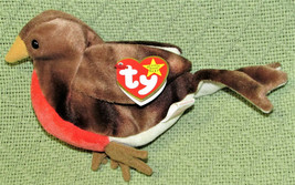 TY BEANIE BABIES EARLY BIRD STUFFED ANIMAL PLUSH + HEART TAG RED BREASTE... - $9.90