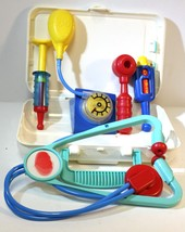 Fisher Price Vintage Play Doctor Kit W/ Clipboard Clip, Stethoscope & 4 ... - $17.09