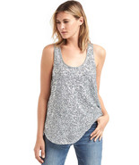 Womens Gap Top S New NWT Silver Sequin Tank Blouse Lined Hi Low Small Pr... - $35.60