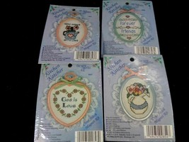 Vintage New Berlin Kitchen Catcher Cross Stitch Magnet Kit Lot of 4 New ... - $13.85