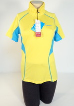 Columbia Sportswear Active Fit 1/4 Zip Yellow Short Sleeve Polo Shirt Wo... - $41.24