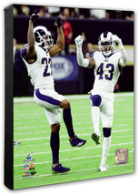 Marcus Peters & John Johnson 2018 NFC Championship Game - 16x20 Photo on... - $94.95