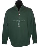 NWT BOBBY JONES Golf  S Pima cotton pullover 1/4 zip monogram neck hunte... - $96.99