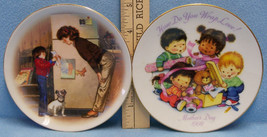 Lot 2 Avon Collector Plates Small Mothers Day 1985 & 1992 Original Boxes - $10.88