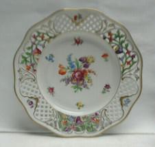 """SCHUMANN Porcelain China DRESDEN LINE 10"""" Pierced/Reticulated DINNER PLATE - $69.95"""
