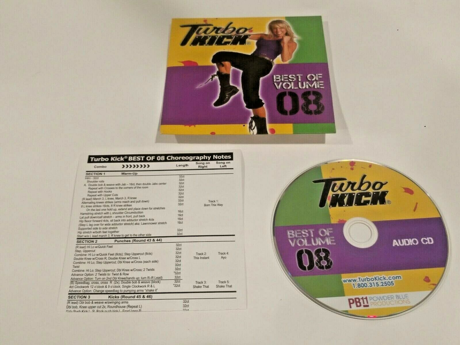 Primary image for Turbo Kick Best of 08 DVD Beachbody Powder Blue Chalene Johnson