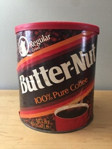 Vintage 1980s Butter-Nut Coffee Can with Original Cover