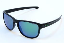Oakley Sliver R OO9342-05 Sunglasses - Matte Black/Jade Iridium - $95.96