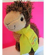"""11"""" Plush Toy Brown LLAMA Yellow Scarf GIRL SCOUT Cookies 2016 2017 ABC ... - $10.71"""
